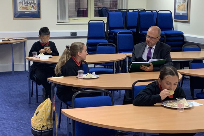 Headteacher's well-being check on new students