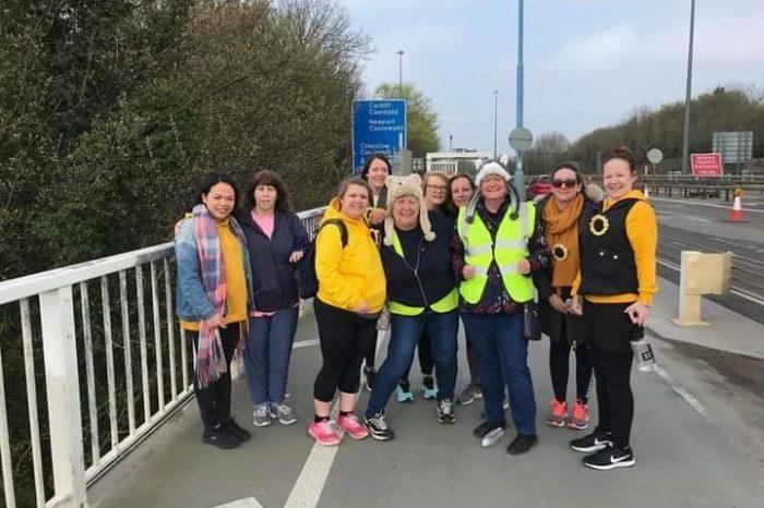 Walking the Severn Bridge for charity