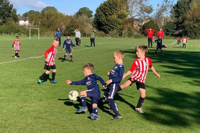 U8 Juniors host their first league game