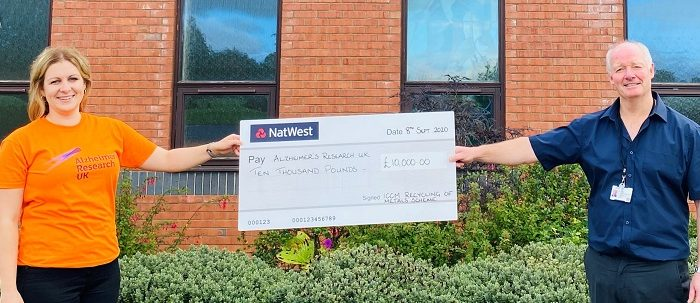 Hereford Cemetery hands over £10k to Alzheimer's Research UK