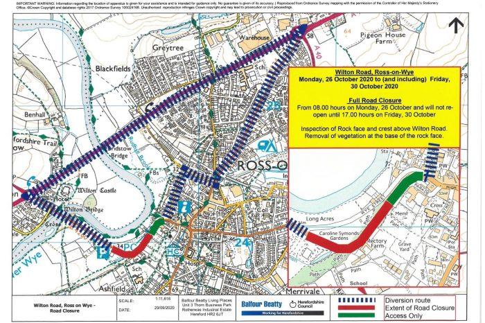 Upcoming Wilton Road closure