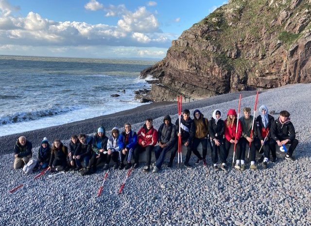 Geography students undertake fieldwork in sunny Somerset