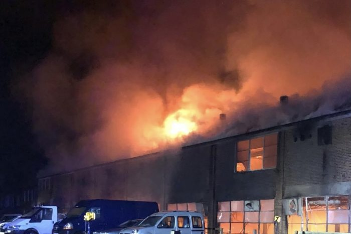 Local fire crews attend large building fire in Lydbrook