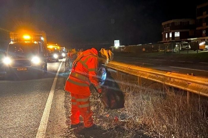 Huge amount of litter cleared from A40