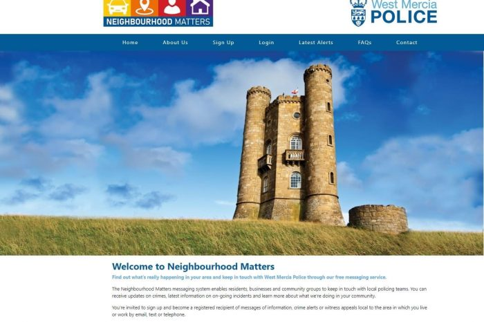 West Mercia Police launch new community messaging service
