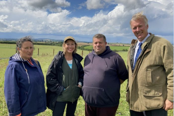 MP visits Brampton Abbotts farm to discuss ongoing phosphate problem in River Wye