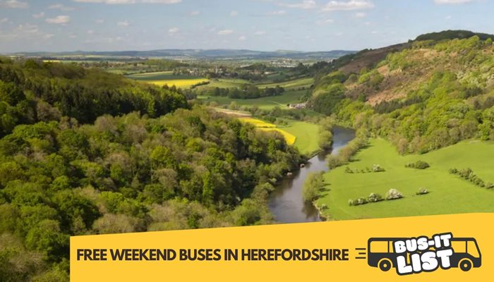Free weekend bus travel in Herefordshire