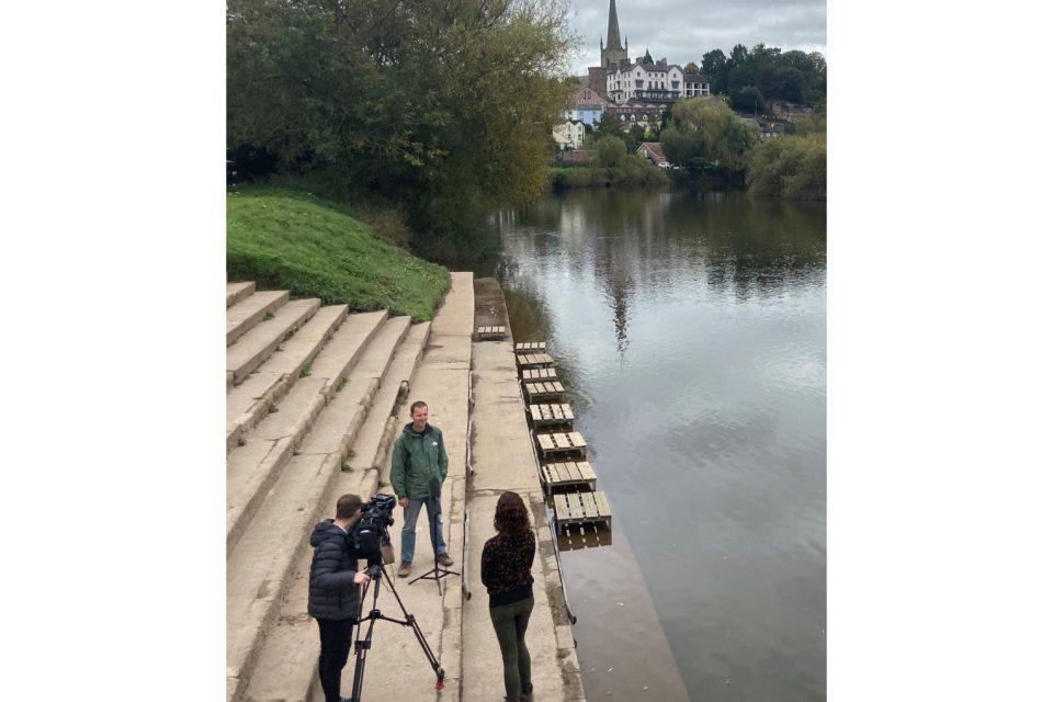 River Wye pollution back in the media spotlight as ITV cameras visit Ross-on-Wye